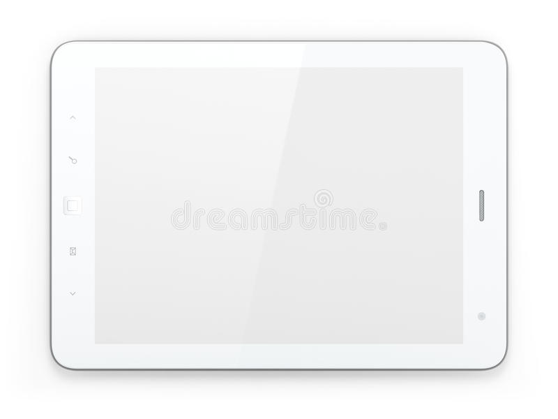 Download Beautiful White Tablet Pc On White Background Stock Illustration - Illustration: 25874651