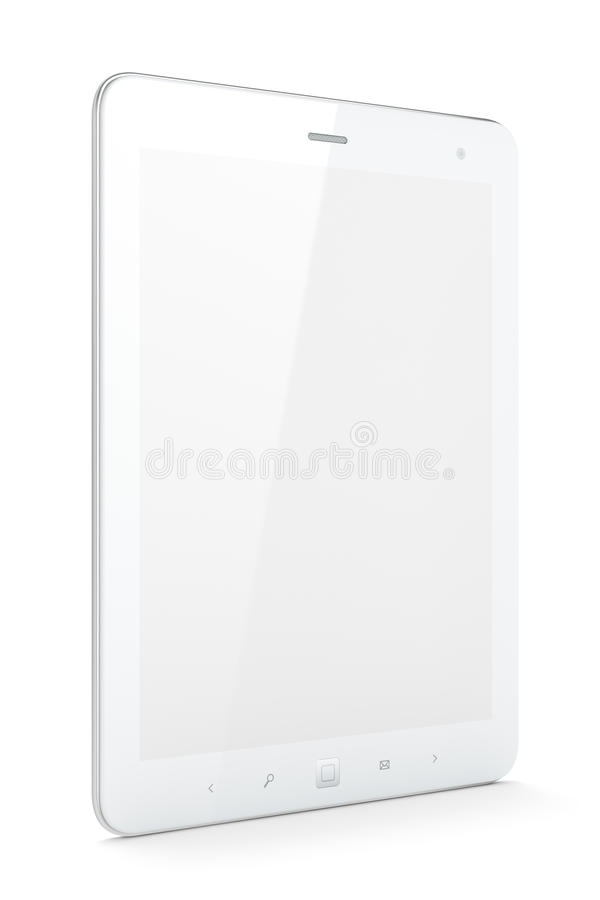 Download Beautiful White Tablet Pc On White Background Stock Illustration - Image: 25874667