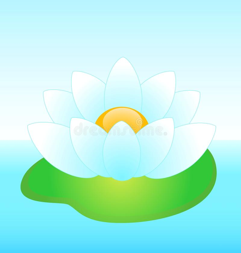 Download Beautiful white water-lily stock vector. Illustration of beautiful - 12186893