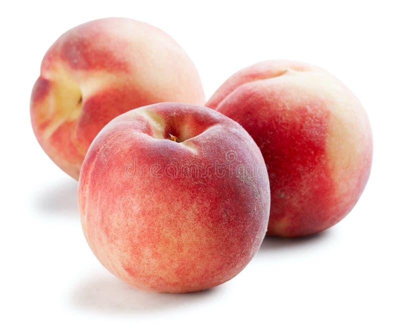 Beautiful whole peaches royalty free stock photos