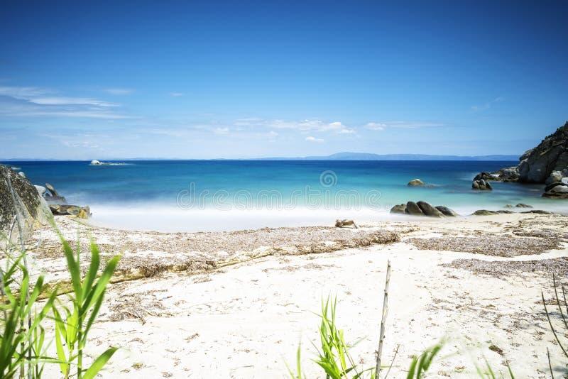 Beautiful wild beach stock image