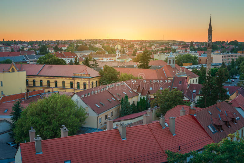 The Beautiful Wine Region of Eger in Hungary stock image