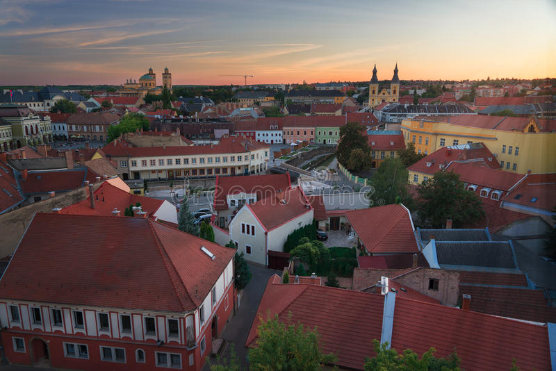 The Beautiful Wine Region of Eger in Hungary royalty free stock image