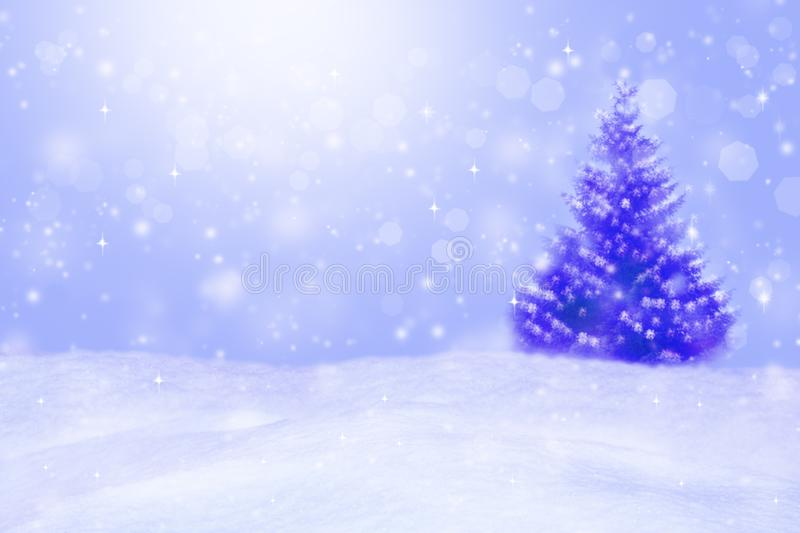 Beautiful winter background. Blurred winter landscape. With bokeh royalty free stock photos