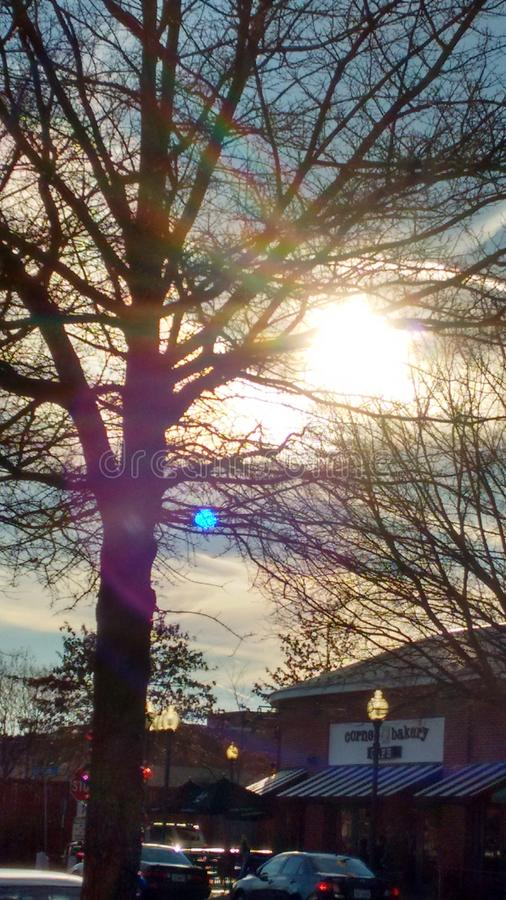 Beautiful winter day royalty free stock image