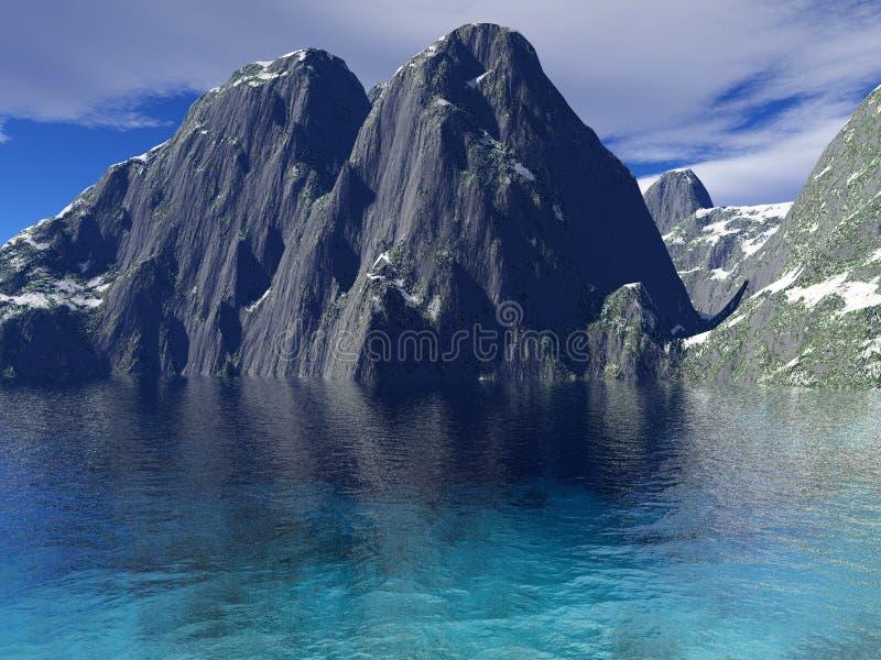 Download Beautiful winter lake stock illustration. Image of frosty - 17935536