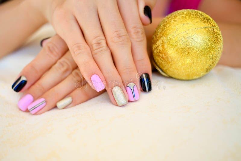 Beautiful winter manicure stock image