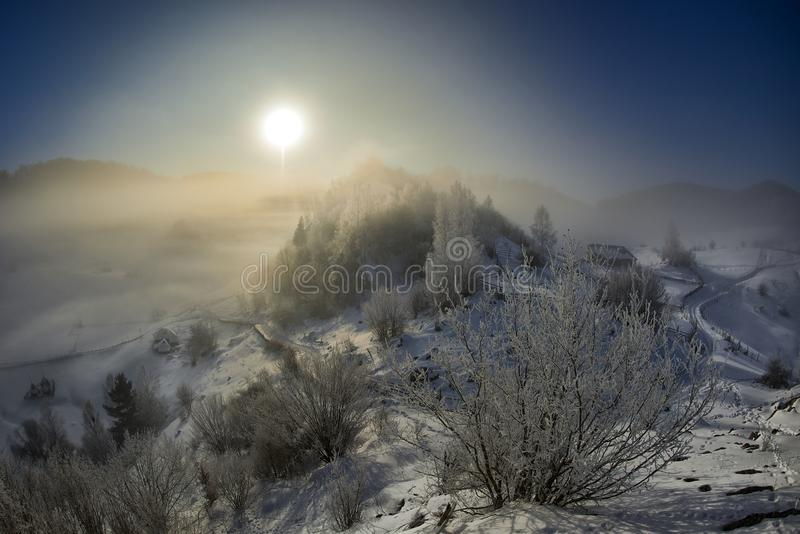 Beautiful winter mountain landscape, Romania royalty free stock images