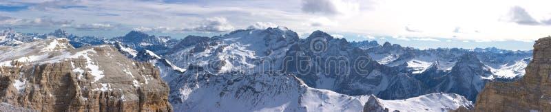 Beautiful winter mountain landscape panorama stock photo