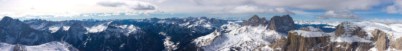 Beautiful Winter Mountain Landscape Panorama Royalty Free Stock Photography