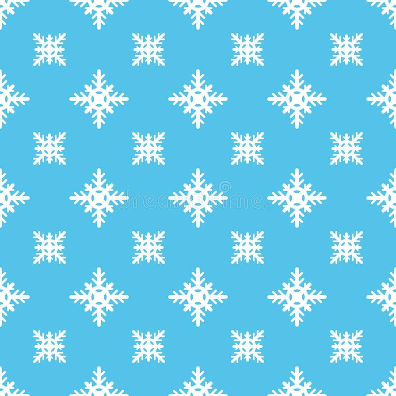 Beautiful winter seamless pattern with snowflakes. Christmas background. Vector illustration royalty free illustration