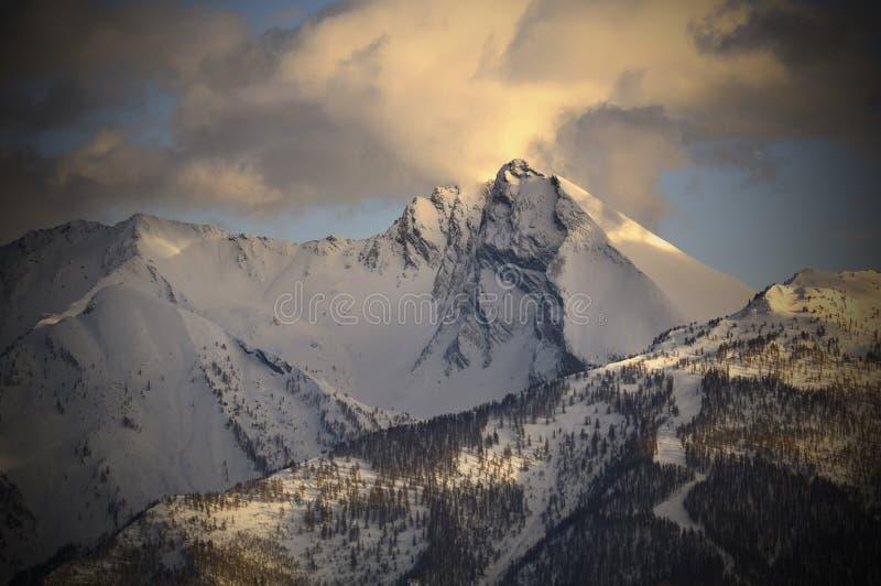Mont Français Pelouxe (2.736 m ) - Piedmont, Italy. A beautiful winter view of the Mont Français Pelouxe (2.736 m ) - Piedmont, Italy stock image