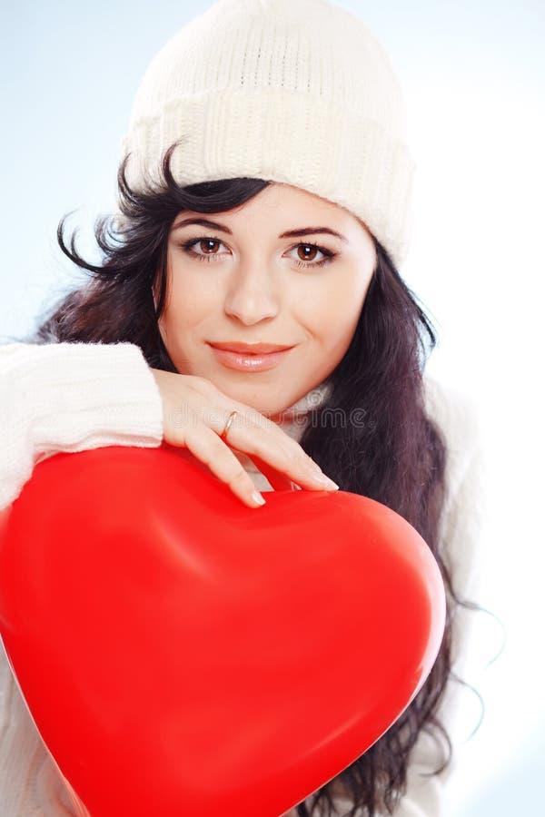 Beautiful winter woman royalty free stock photos