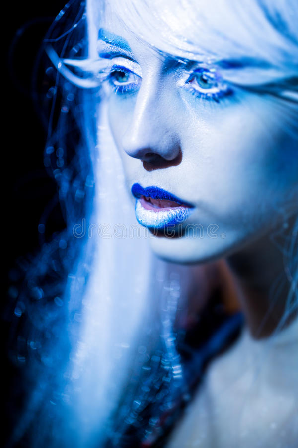 Beautiful winter woman stock images