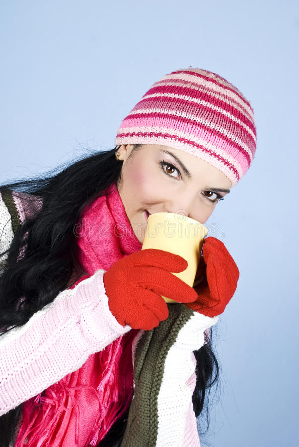 Download Beautiful Winter Woman Heat Up Stock Image - Image of close, colorful: 12020141