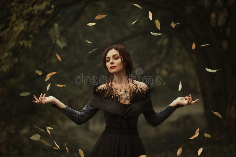 A beautiful witch stock photography