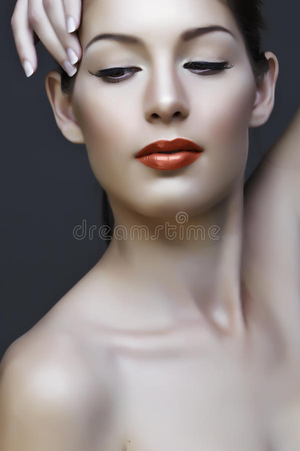 Download Beautiful woman stock photo. Image of glamour, care, brunette - 13875524