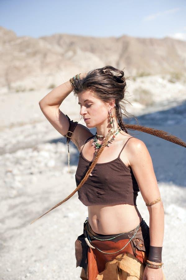 Beautiful Wild Woman stock photo