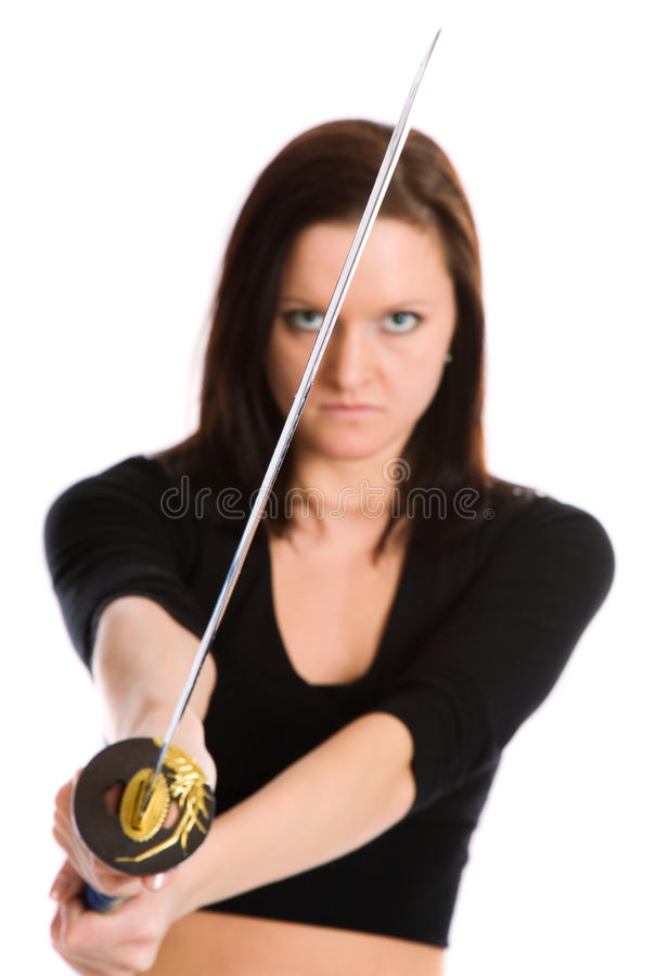 Download Beautiful woman stock photo. Image of aggression, edged - 16507274
