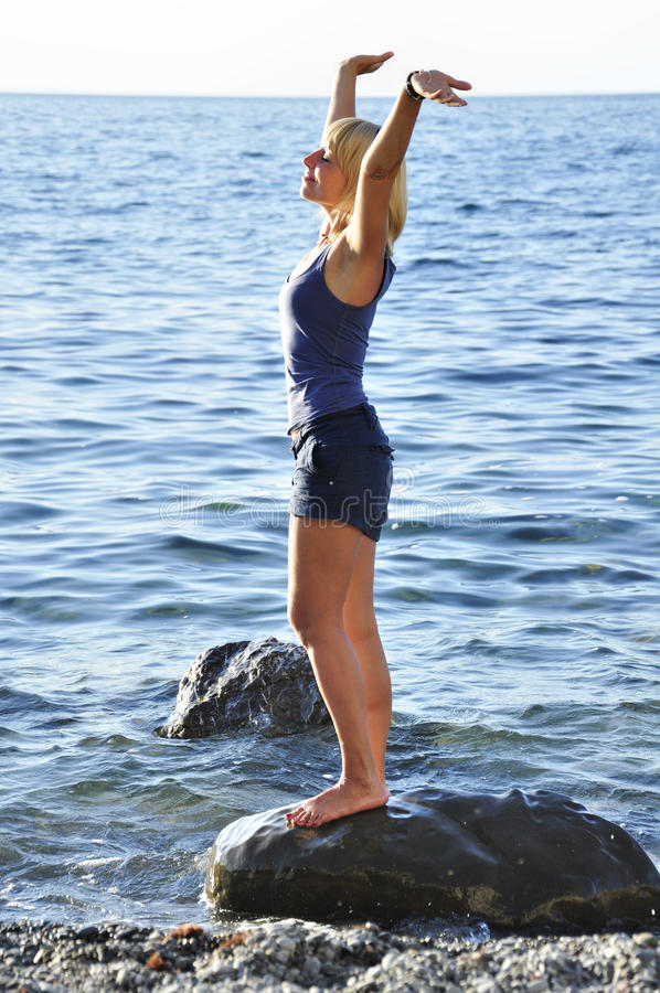 Download Beautiful woman stock photo. Image of enjoying, girl - 20592814