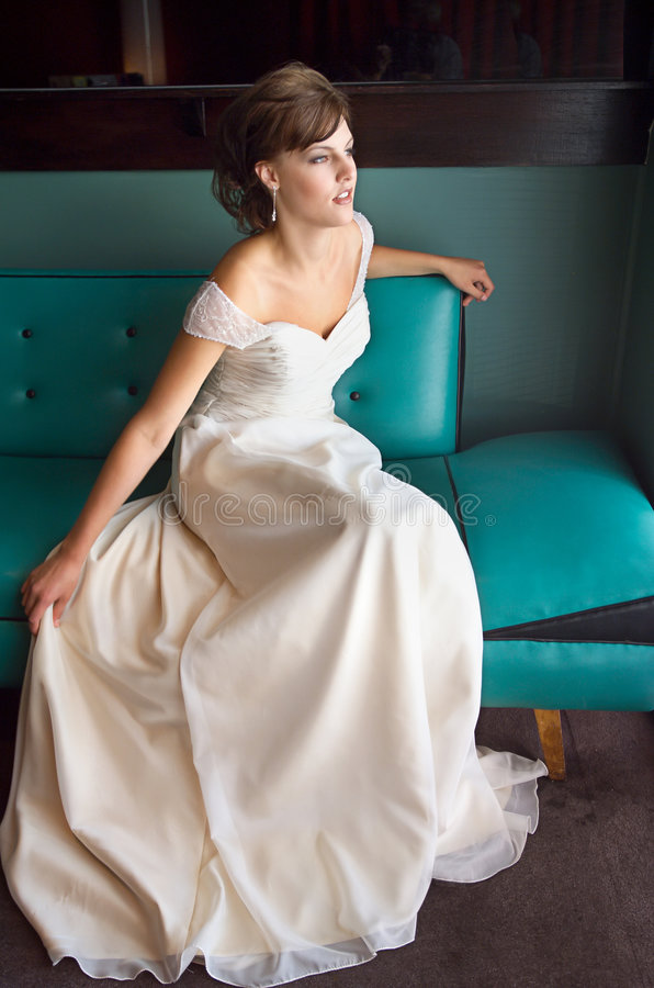 Beautiful Woman. Portrait of young gorgeous Bride on her wedding day royalty free stock images