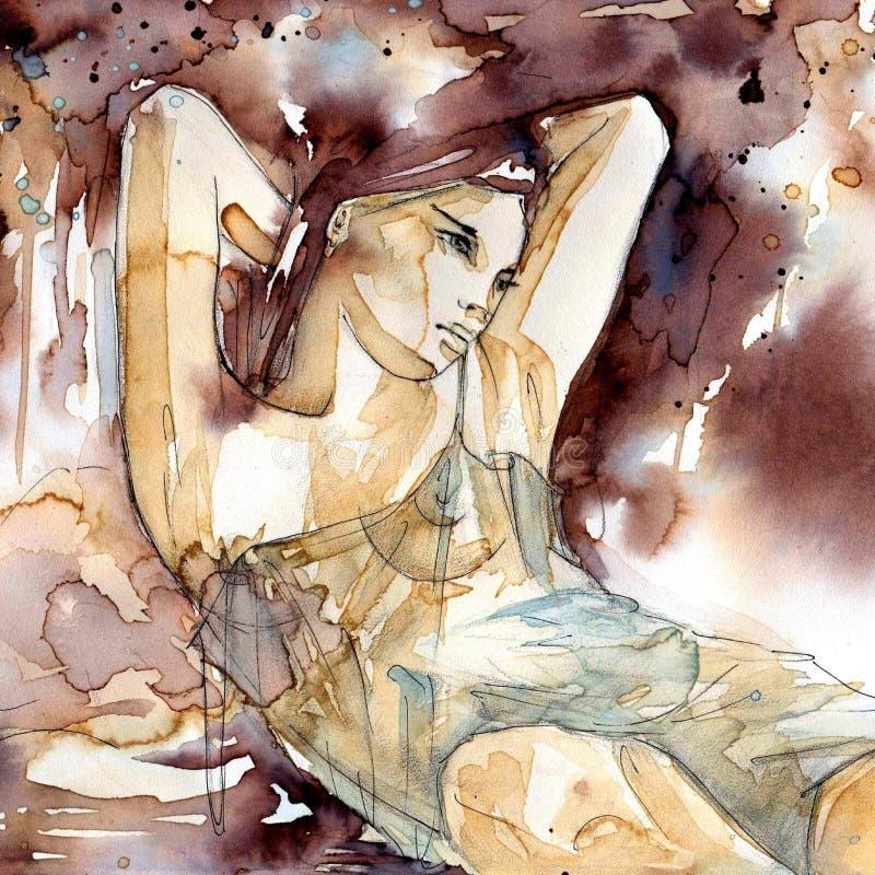 Beautiful woman royalty free illustration