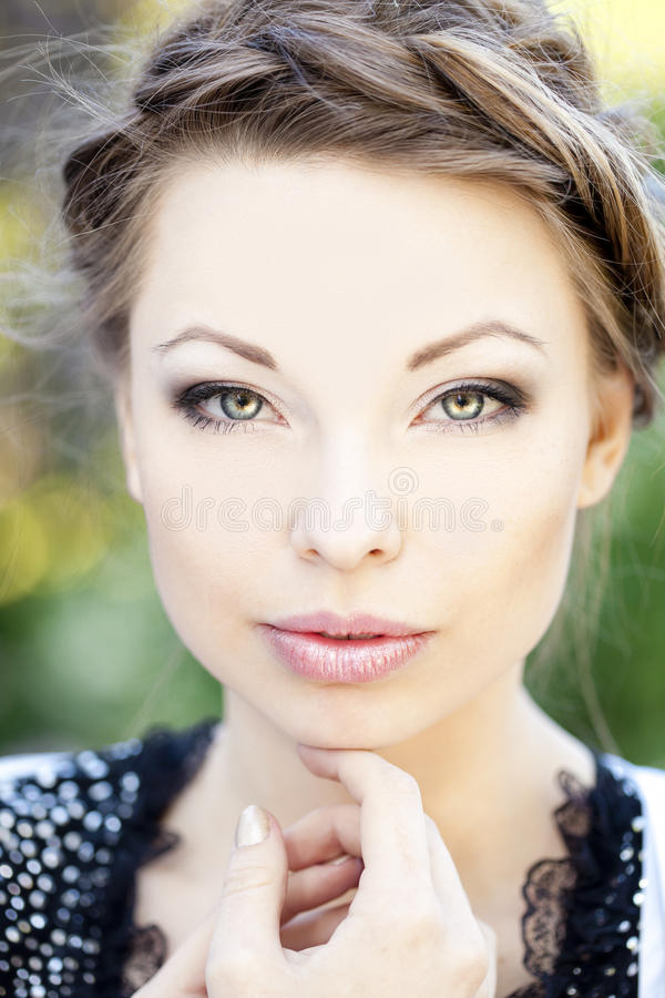 Download Beautiful woman stock photo. Image of background, looking - 25950652