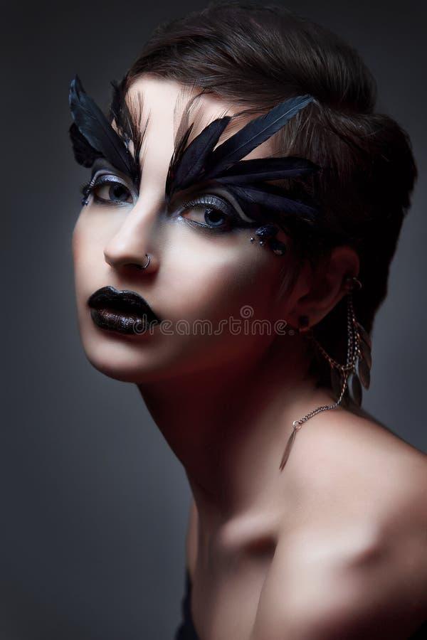 Bird Halloween Makeup.Halloween Makeup Fantasy Bird Woman Artistic Make Up Photos Free Royalty Free Stock Photos From Dreamstime