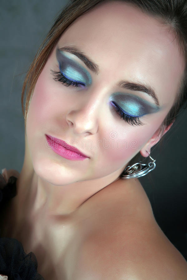 Beautiful woman with artistic makeup royalty free stock photos