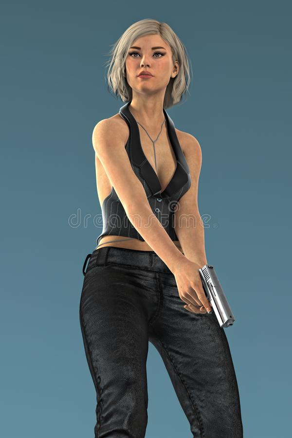 beautiful-woman-assassin-holding-gun-fig
