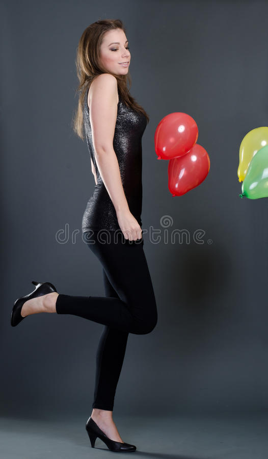 Download Beautiful Woman With Balloons Stock Photo - Image: 22667868