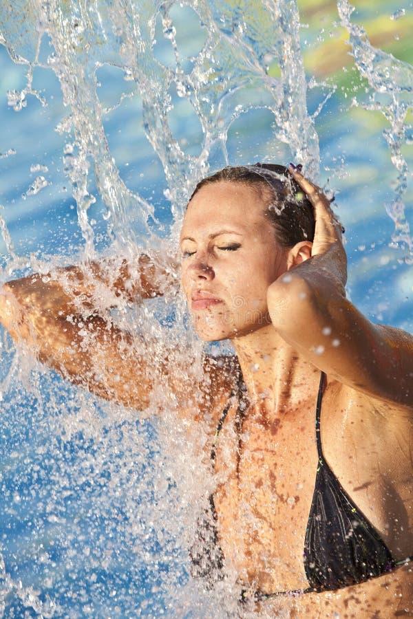 Free Beautiful Woman Bathes In Pool Stock Image - 16774491