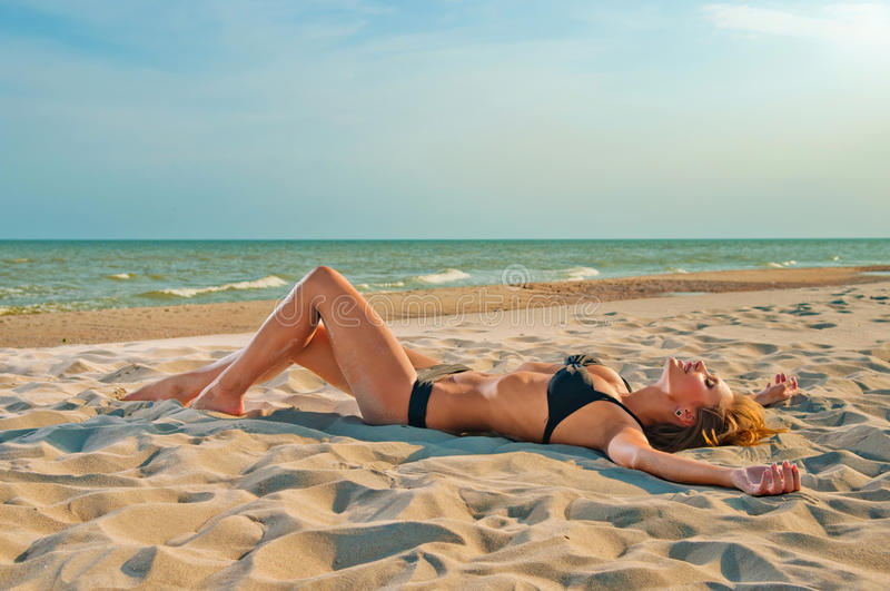 Download Beautiful Woman In A Bathing Suit Stock Photo - Image: 21696156