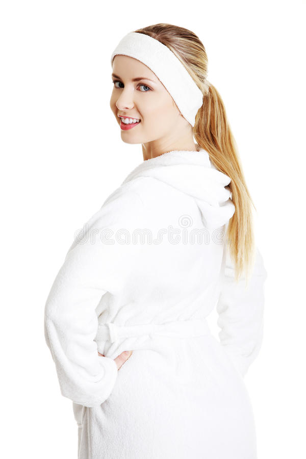 Download Beautiful Woman In Bathrobe Stock Images - Image: 23435164