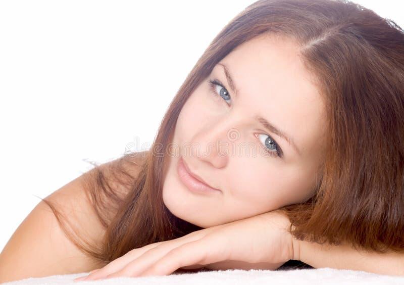 Beautiful woman beautiful woman in spa salon royalty free stock images