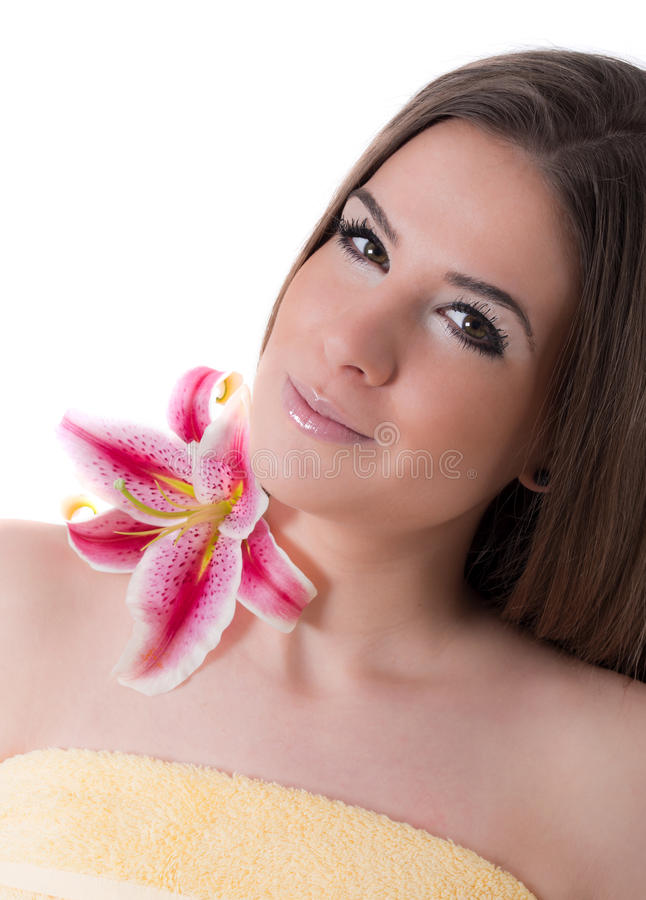 beautiful woman, beauty treatment concept, spa royalty free stock photography