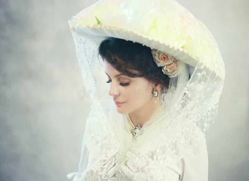 Victorian woman stock image