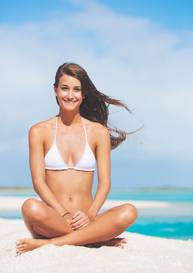Beautiful Woman in Bikini stock photos
