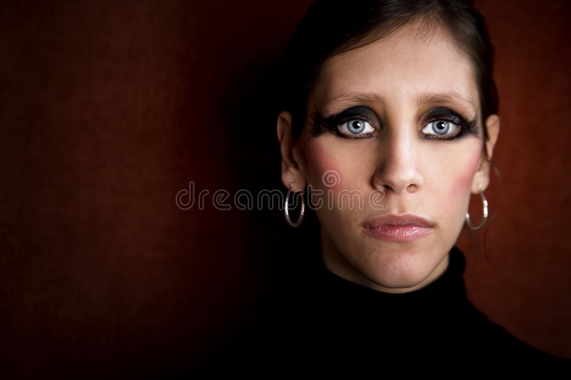 Download Beautiful Woman In A Black Turtleneck Stock Photo - Image: 7426152