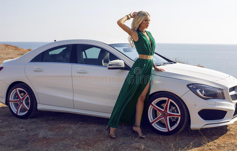 Fashion Shooting Girl In The Car