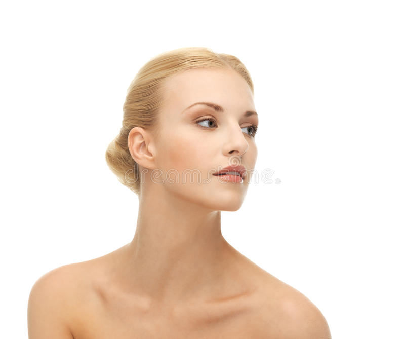 Beautiful woman with blonde hair royalty free stock images