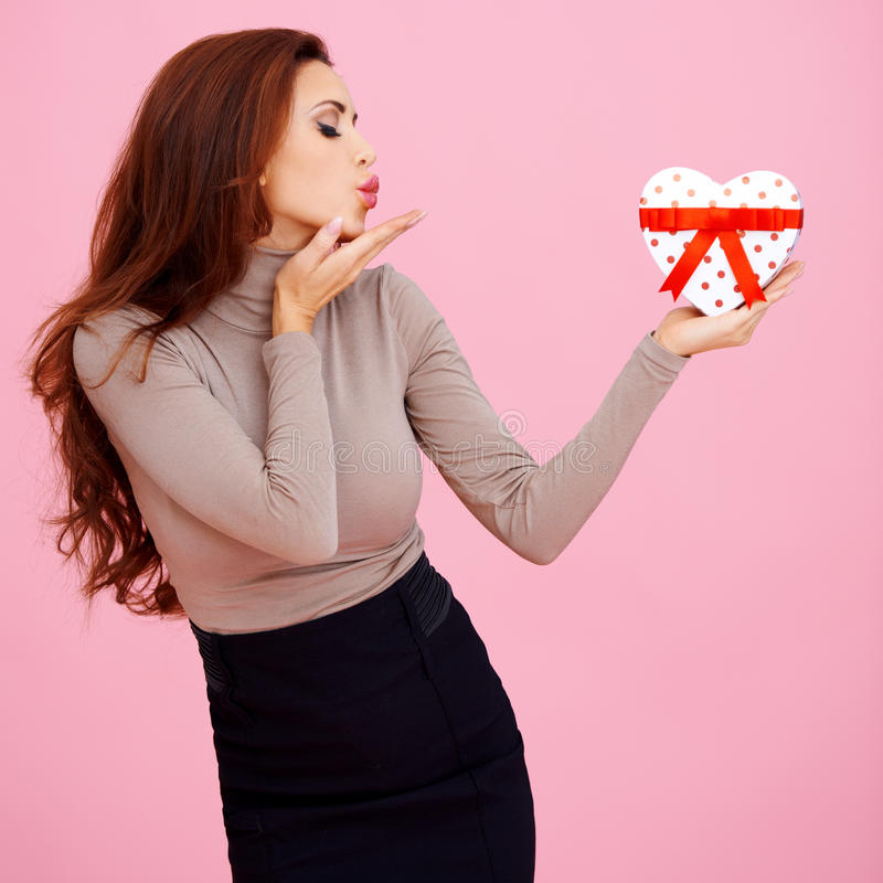 Download Beautiful Woman Blowing A Kiss Stock Photo - Image: 28736118
