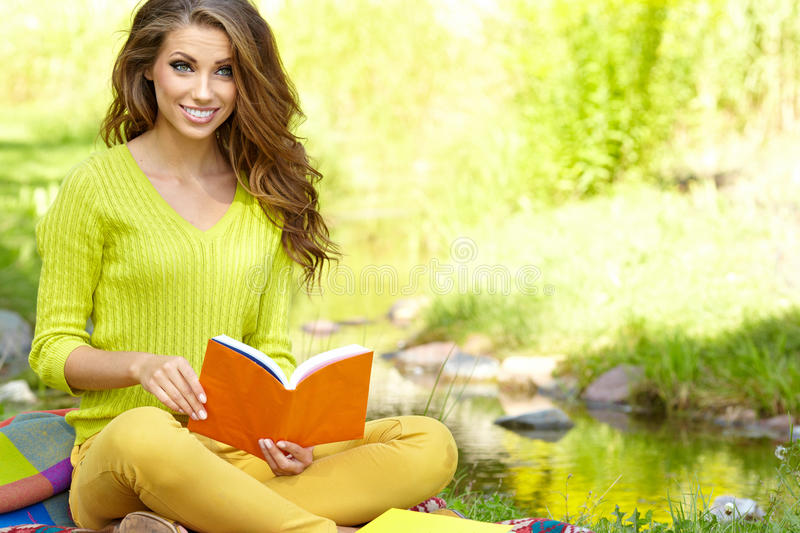 Download Beautiful Woman  With Book Stock Photography - Image: 29248552