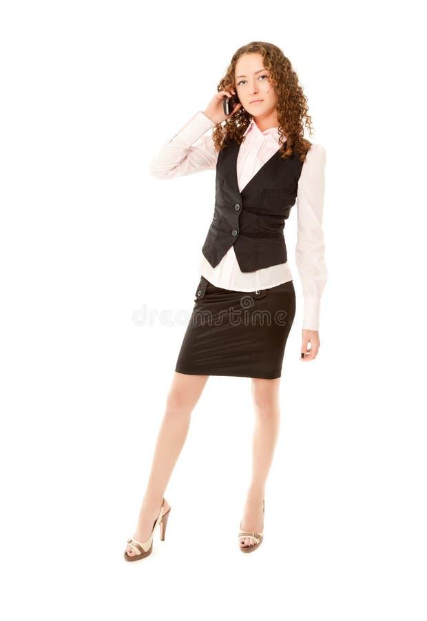 Download Beautiful Woman Calling To Phone Stock Photo - Image: 18341140