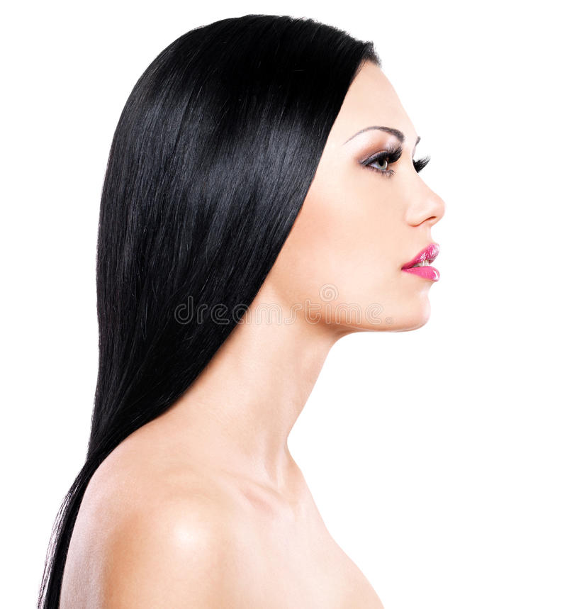 Beautiful woman cares of the skin face royalty free stock images
