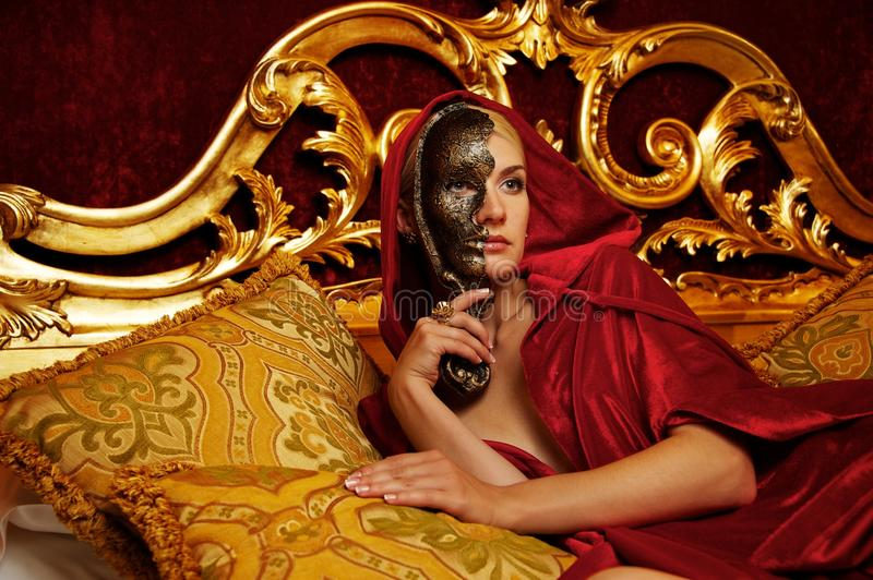 Download Beautiful Woman With A Carnival Mask Stock Photo - Image: 22987630