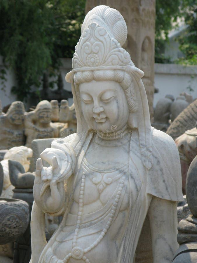Beautiful Woman Chinese Statue - Beijing Dirt Market stock image