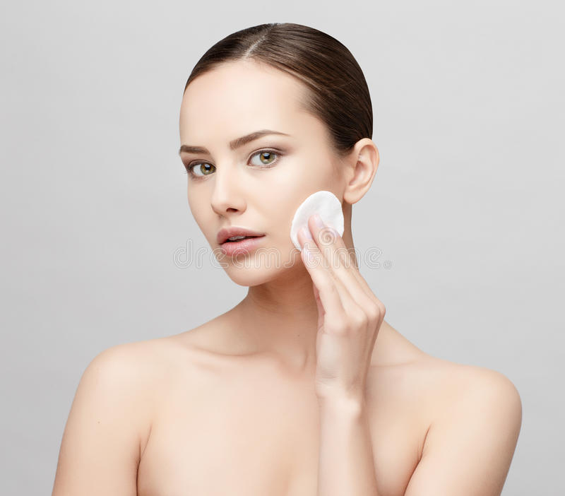 Beautiful Woman with Clean Fresh Skin royalty free stock photos