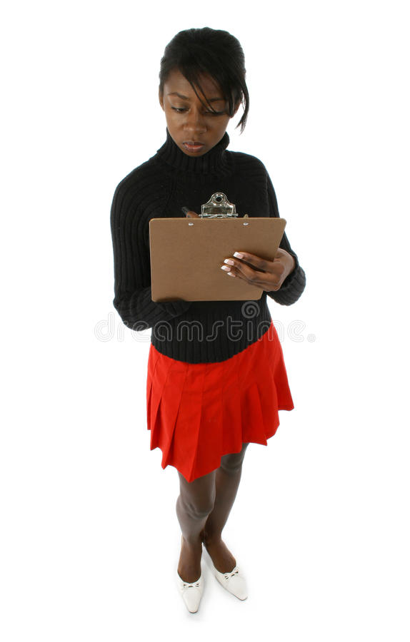 Beautiful Woman with Clipboard royalty free stock photo