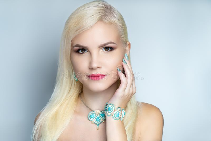 Woman accessory jewelry stock images